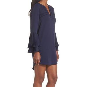 NEW Adelyn Rae Elissa Pleat Cuff Shift Dress XS